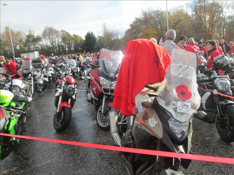 Ren and thousands of other motorcyclists at the Ring Of Red memorial ride out