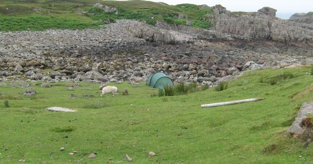 remote tent wild camping in scotland