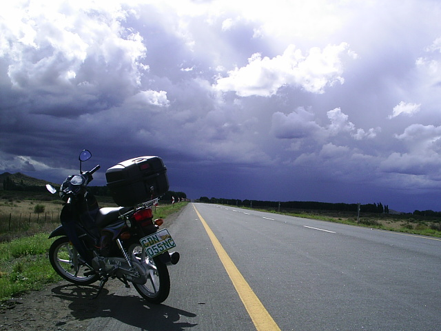 On this trip I had to drive trough some heavy showers for 60 miles.