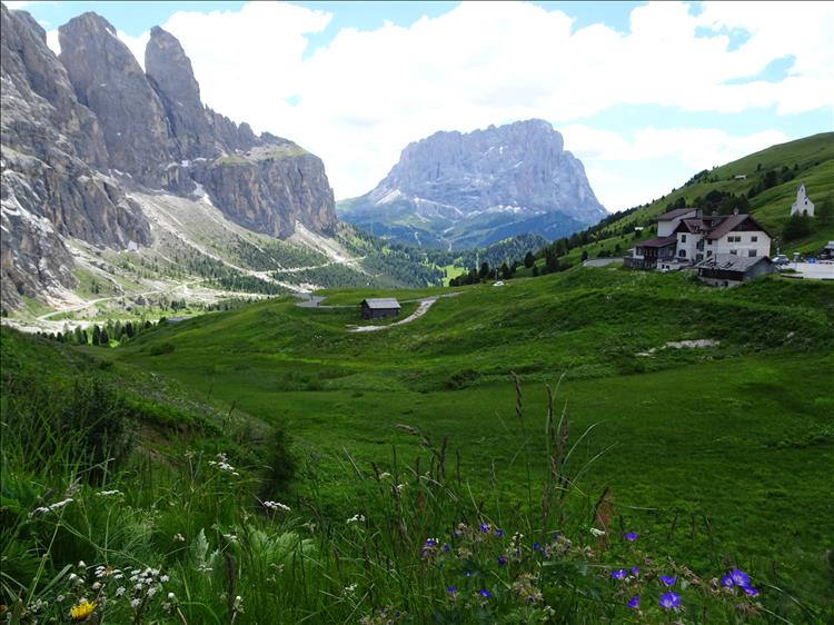 Dolomites in the summer.