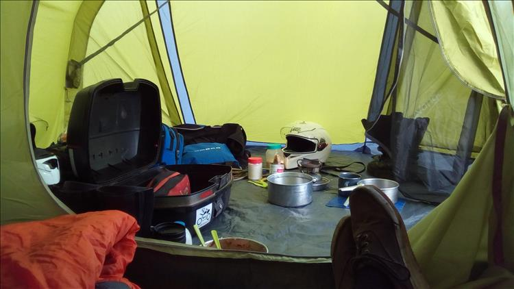 Inside the tent at Ayrshire