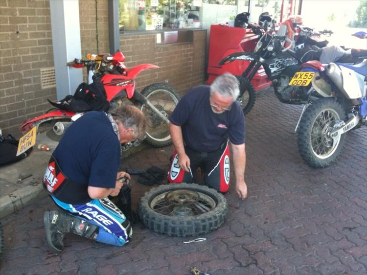 fixing puncture