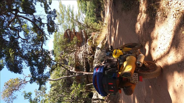 Simplistic solo motorcycle adventure