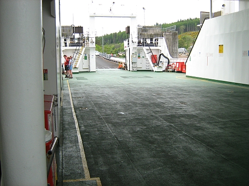 The vehicle deck of the Armadale Mallaig Ferry