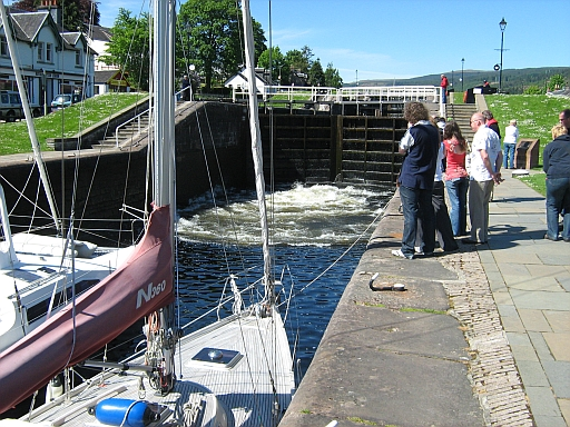 A lock at Fort Augustus and 2 yachts