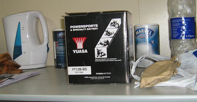 Yuasa Battery Box for my Yamaha Fazer