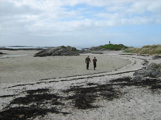 The white sandy beach at Invercaimbe Campsite