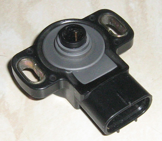 the inside face of the throttle position sensor