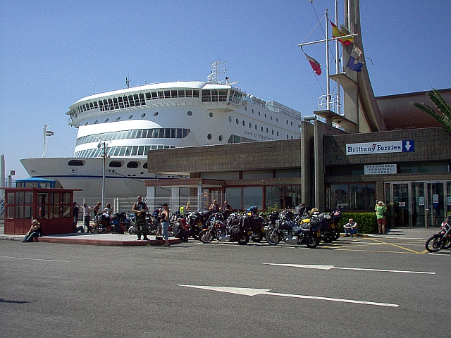 The ferry at Santander in 2005
