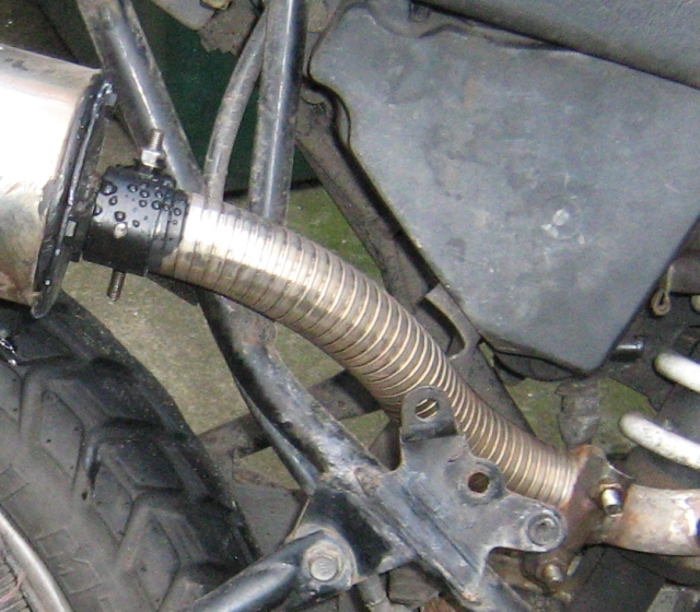 flexible stainless exhaust tube on my clr 125