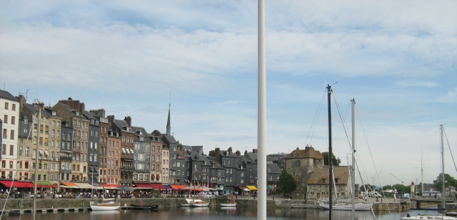 The harbour and cafes in honfleur