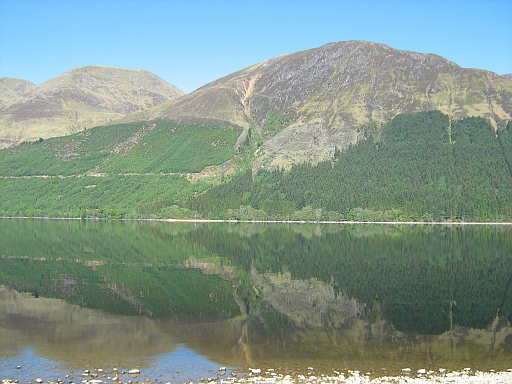 Loch Lochy, millpond flat in the glorious sunshine