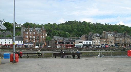Shops seen from Oban Harbour