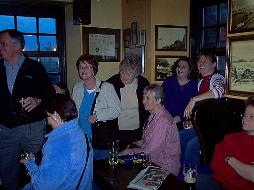Canadians and Americans in a local Scottish pub