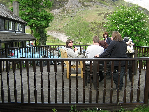 On the Veranda at the Clachaig Inn