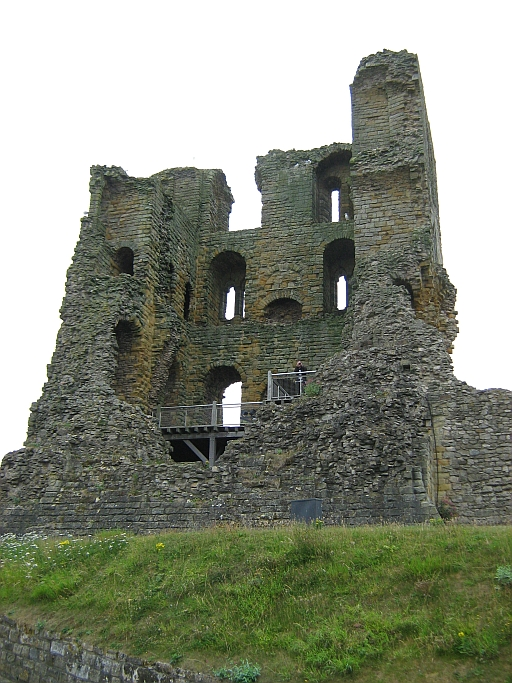 What is left of Scarborough Castle Keep