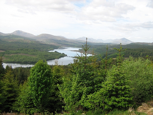 The view from a viewing point along the A87
