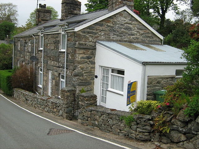 A stone built house in Rhyd