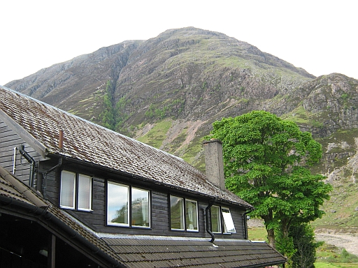 The mountain behind the clachaig inn