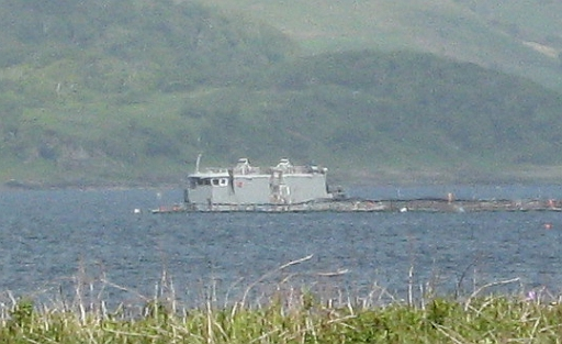 The Unknown building or ship seen from Toberonochy Harbour