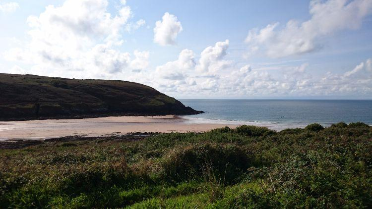 Yet another sandy beach and gorgeous cove this time at Manorbier