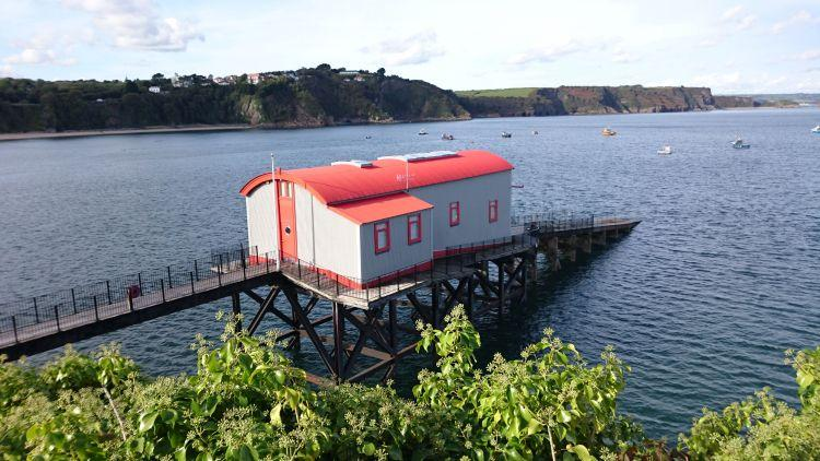 An old lifeboat house that has been converted to a modern, unusual and interesting dwelling