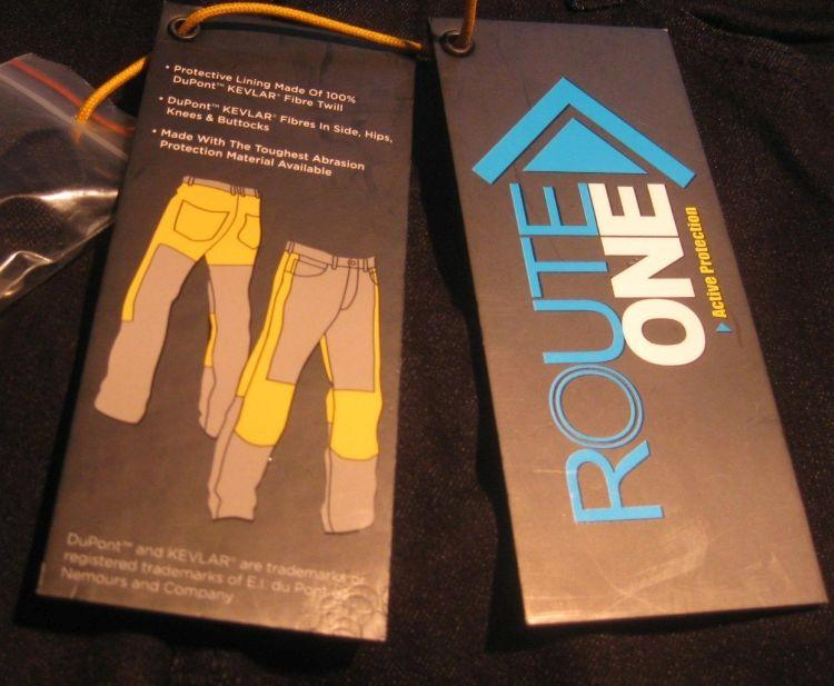 The labels that came with the pants show the kevlar protection is only in certain areas