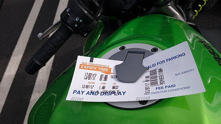 The parking ticket on Sharon's tank in Sleaford Sainsburys