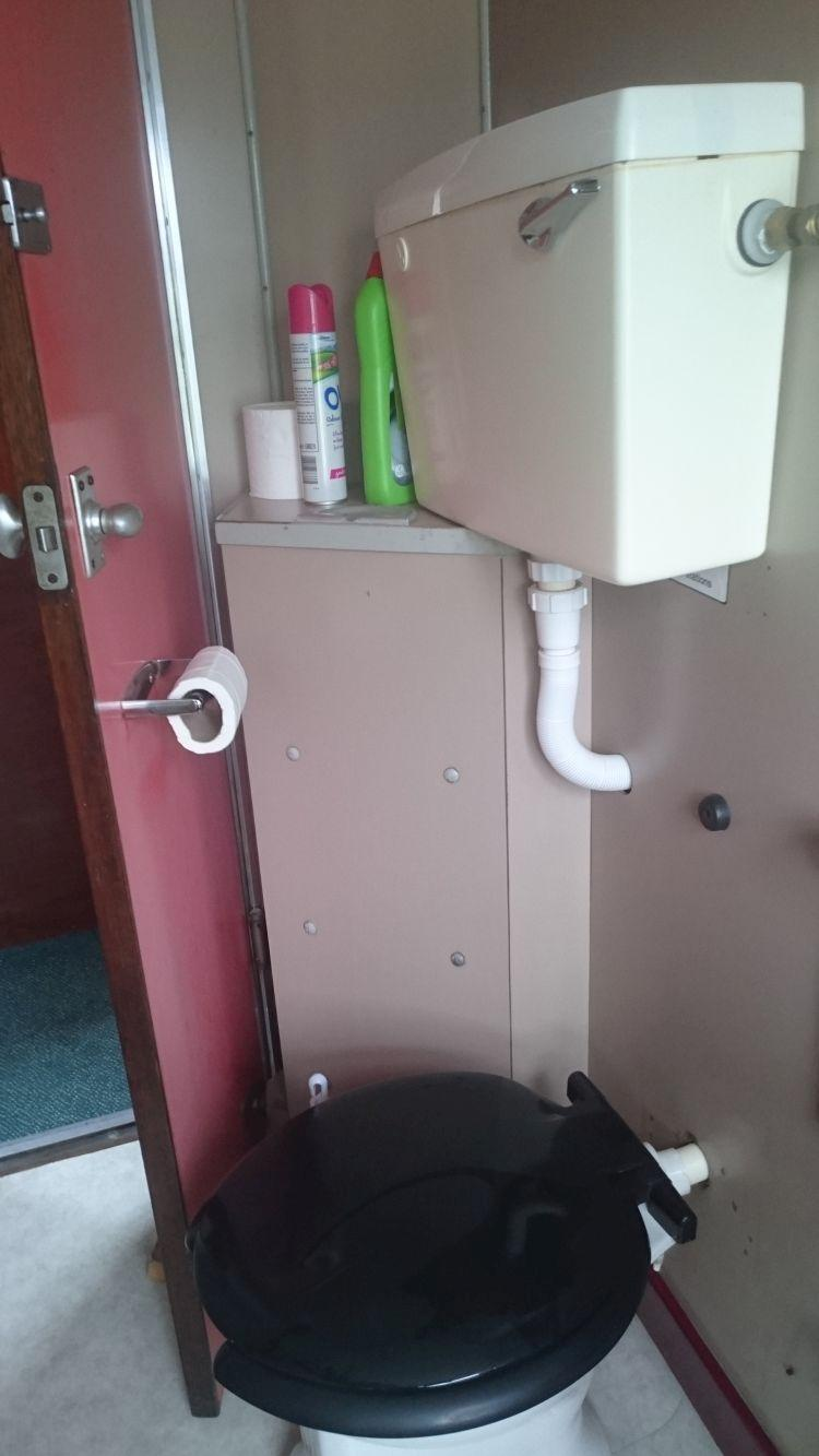 The toilet squeezed into the carriage at Rogart