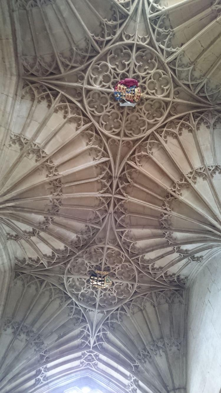 Glorious fan vaulting in the ceiling, complex and detailed