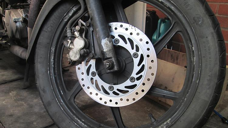 The new disc fitted to Ren's CBF 125