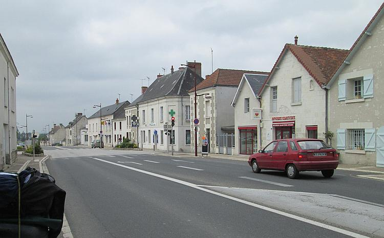 A regular road running through a regular french village