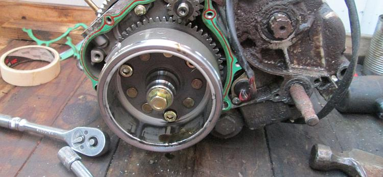 The flywheel on the engine that refuses to budge