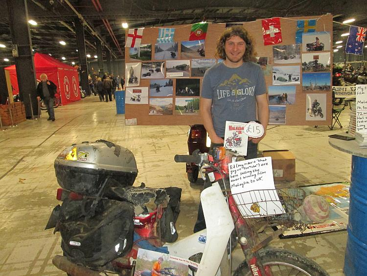 Ed March and his C90 at the Manchester Bike Show