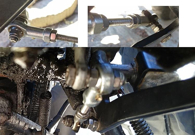 A collection of images from the re-made gear linkage on Sharons Keeway RKS 125