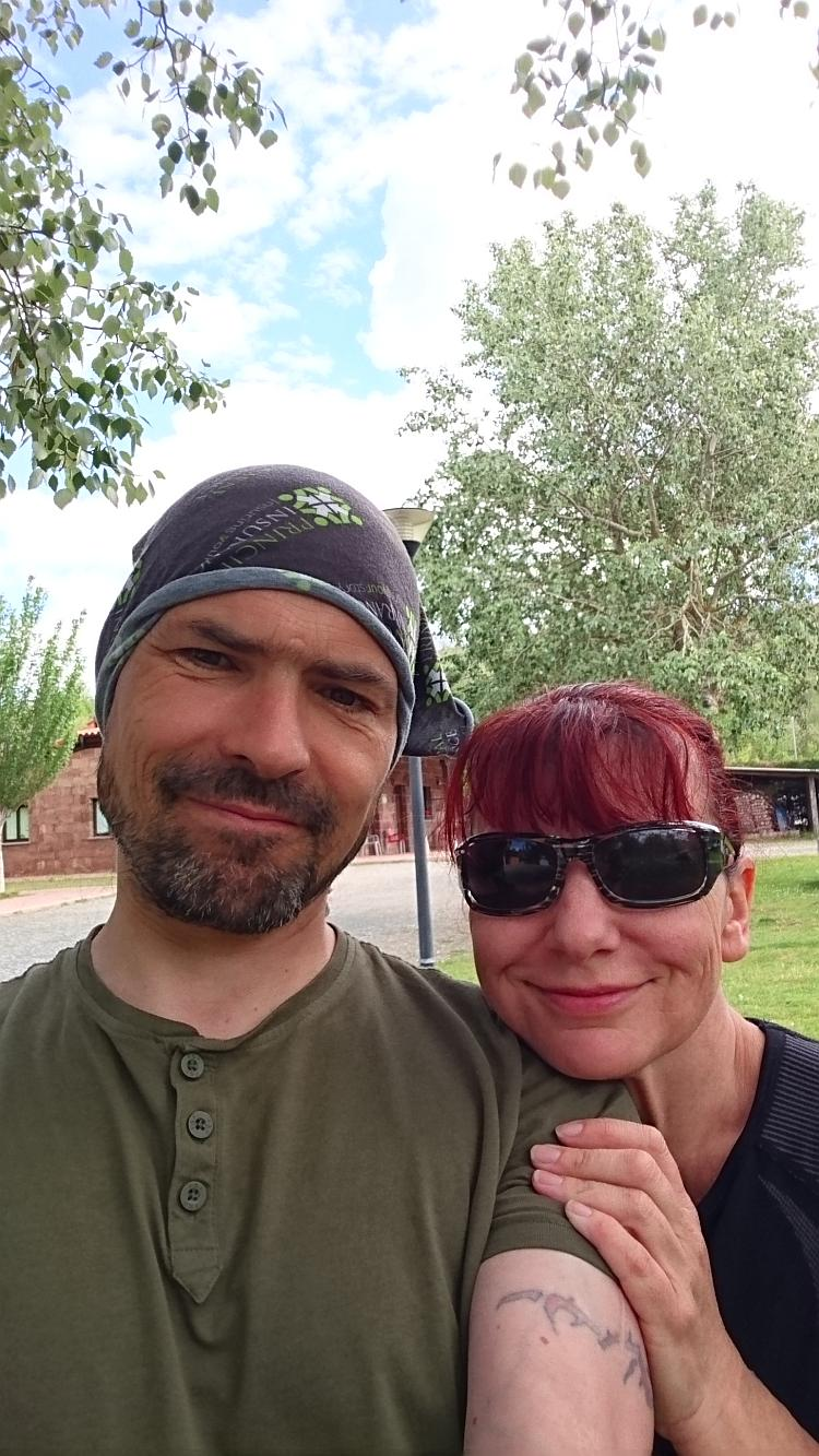 Sharon and Ren in a selfie picture at the campsite