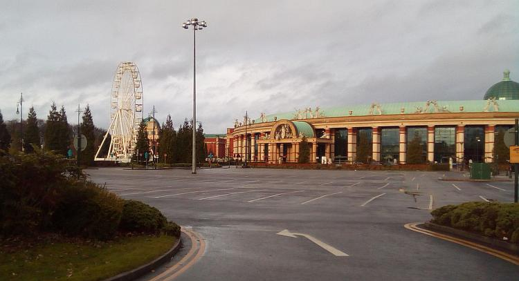 The large brick and stone buildings at The Trafford Centre at least have some styling