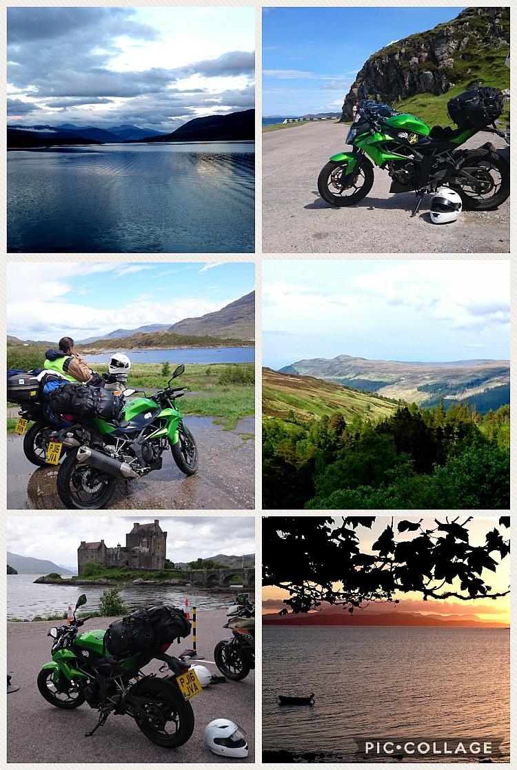 A montage of fabulous motorcycle adventure images from Sharon