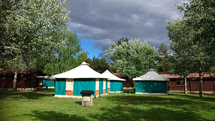 2 smart and coloured safari style tents are available at the campsite