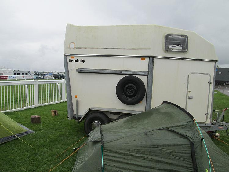 Just a regular horsebox at the camping area