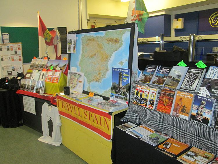 Duncan sells books and has a travelling stall complete with stands and maps