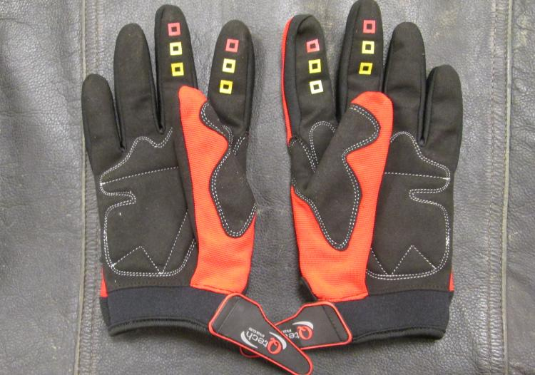 A pair of ordinary motocross gloves