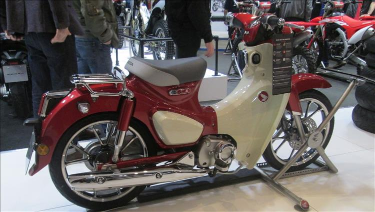 The all new C125 Honda Cub at this year's NEC bike show