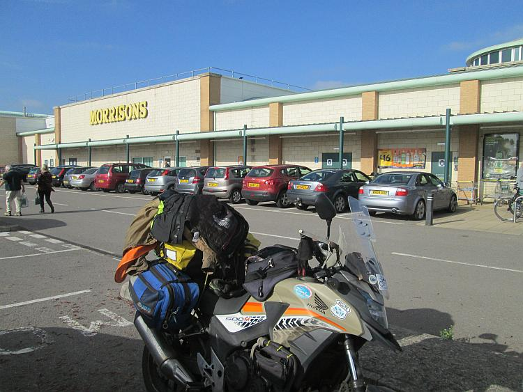 The CB500X outside a regular morrisons in Weston Super Mare