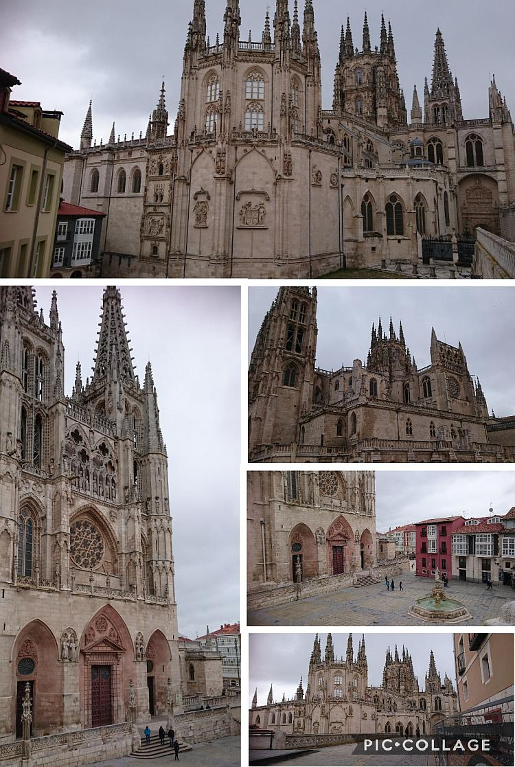 Burgos Cathedral from different angles and places. It is a huge sprawling complex