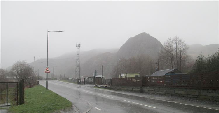 the town of Blaenau Ffestiniog is very grey and very very wet