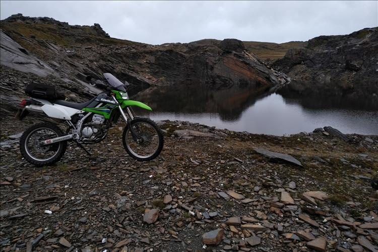Bob's KLX250 in a disused quarry