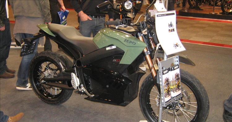 Electic motorcycle at a motorcycle show