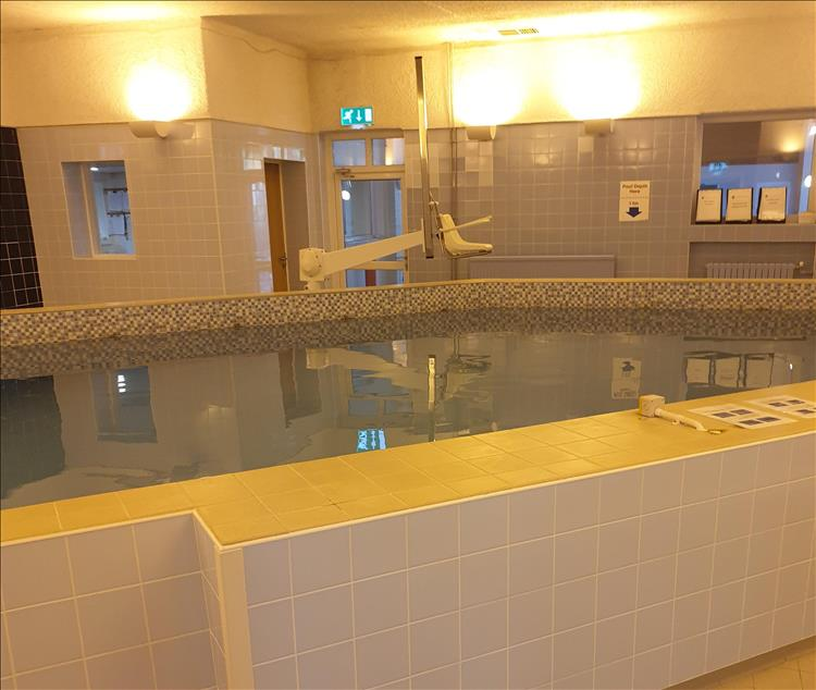 The large pool at the treatment centre