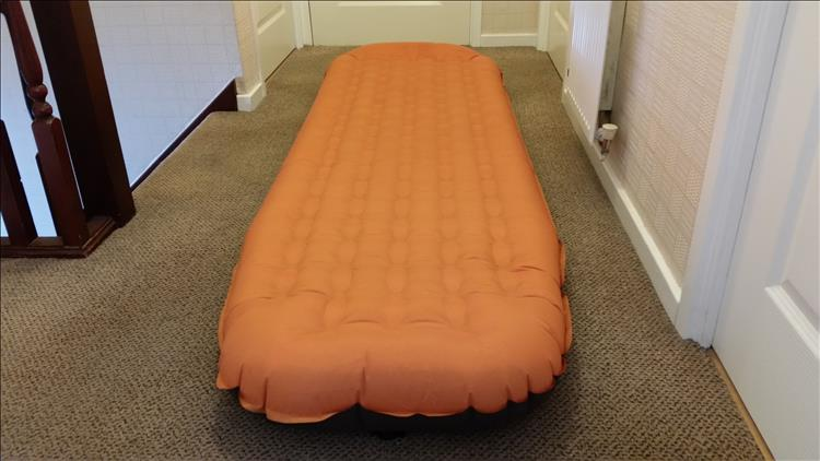 The airbed inflated gives a deep mattress